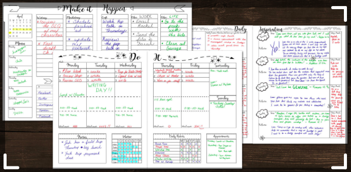 My Brilliant Writing Planner with notes